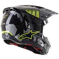Alpinestars Sm5 Rover Helmet Yellow Fluo Grey