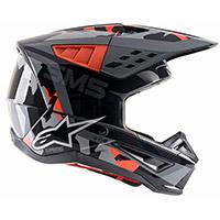 Alpinestars Sm5 Rover Helmet Red Fluo Grey