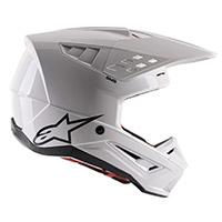 アルパインスターズSM5ソリッドヘルメットホワイト光沢