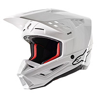 Casco Alpinestars SM5 Solid blanco brillante