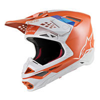 Casco Cross Alpinestars S-m8 Contact Arancio
