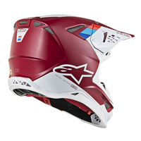 Casco Cross Alpinestars S-m8 Contact Bordeaux