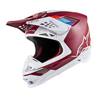 Off Road Helmet Alpinestars S-m8 Contact Bordeaux