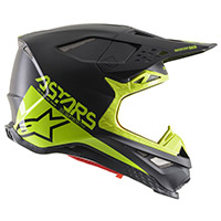 Alpinestars S-m8 Echo Helmet Black Fluo Yellow