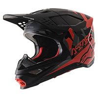 Alpinestars S-m8 Echo Helmet Black Grey Red Fluo