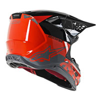 Casco Cross Alpinestars S-m8 Radium Arancio