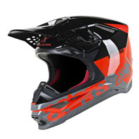 Casco Off Alpinestars S-M8 Radium naranja