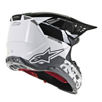Casco Cross Alpinestars S-m8 Radium Bianco