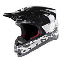 Casco Off Alpinestars S-M8 Radium blanco