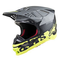 Casco Cross Alpinestars S-m8 Radium Giallo
