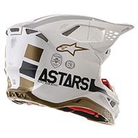 Alpinestars S-M8 Squad 20 LTD Helm Silber Gold - 4