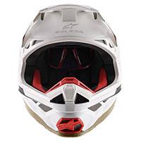 Alpinestars S-M8 Squad 20 LTD Helm Silber Gold - 5
