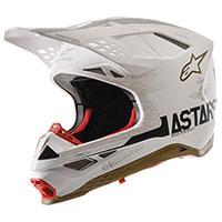 Alpinestars S-m8 Squad 20 Ltd Helmet Silver Gold