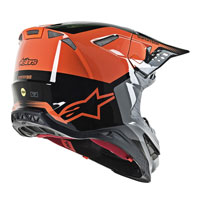 Casco Cross Alpinestars S-m8 Triple Arancio