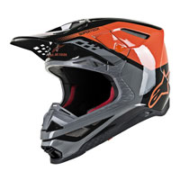 Casco Off Alpinestars S-M8 Triple naranja