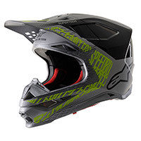 Alpinestars S-m8 Triple Helmet Silver Black Yellow