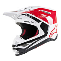 Casco Off Alpinestars S-M8 Triple rojo