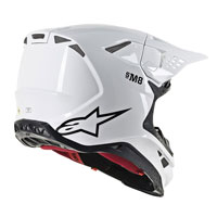Off Road Helmet Alpinestars S-m8 White