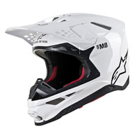 Casco Off Alpinestars S-M8 blanco