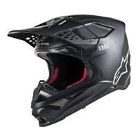 Casco Cross Alpinestars S-m8 Nero Opaco