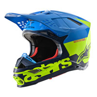 Casco Alpinestars Supertech M8 Radium azul amarillo