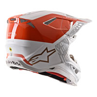 Casco Alpinestars Supertech M8 Triple blanco naranja