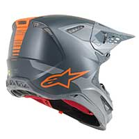Alpinestars Supertech S-m10 Meta Anthracite Gray Orange Fluo