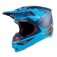 Alpinestars Supertech S-m10 Meta Black Aqua Orange Fluo