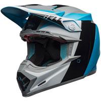 Bell Moto 9 Flex Carbon Division Blu