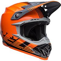 Casco Bell Moto 9 Mips Louver Nero Arancio