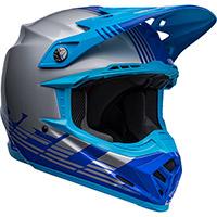 Casco Bell Moto 9 Mips Louver Grigio Blu