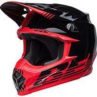 Casco Bell Moto 9 Mips Louver Nero Rosso