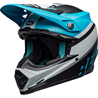 Bell Moto 9 Mips Prophecy Helmet White Black Blue