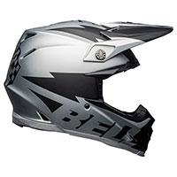 Casque Bell Moto 9 Flex Breakaway Argent Noir
