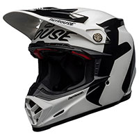 Casco Bell Moto 9 Flex Fasthouse Newhall Bianco