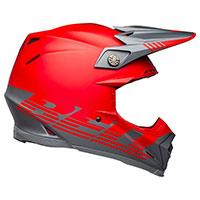 Casque Bell Moto 9 Flex Louver Gris Mat Rouge