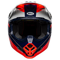 Casco Bell Moto 9 Mips Prophecy Rosso Infra Navy - 4