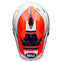 Casco Bell Moto 9 Mips Prophecy Rosso Infra Navy - 5