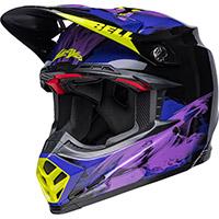 Casco Bell Moto-9s Flex Slayco Nero Viola