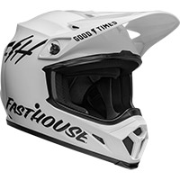 Casco Bell Mx 9 Mips Fasthouse Bianco Nero