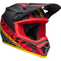 Casco Bell Mx 9 Mips Offset Nero Opaco Rosso