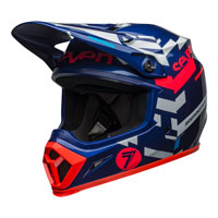 Casco Cross Bell Mx-9 Seven Equalizer