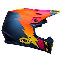 Casco Bell Mx 9 Mips Strike Blu Arancio Rosa - 3