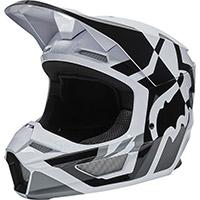 Fox V1 Lux Helmet Black White