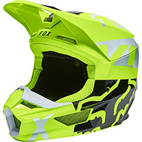 Fox V1 Skew Helmet Yellow Fluo