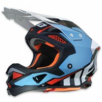 Ufo Casco Cross Enduro Diamond Azzurro