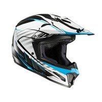 Hjc Cl-xy 2 Blaze Mc2 Kid Helmet White Black Blue Kinder
