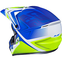 Casco Hjc Cs Mx 2 Ellusion Blu Giallo