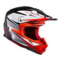 Hjc Fx-cross Axis Mc5sf Helmet Orange White Black