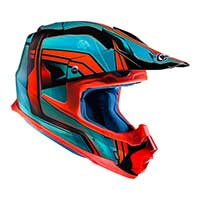 Hjc Fx-cross Piston Mc4 Helmet Teal Orange